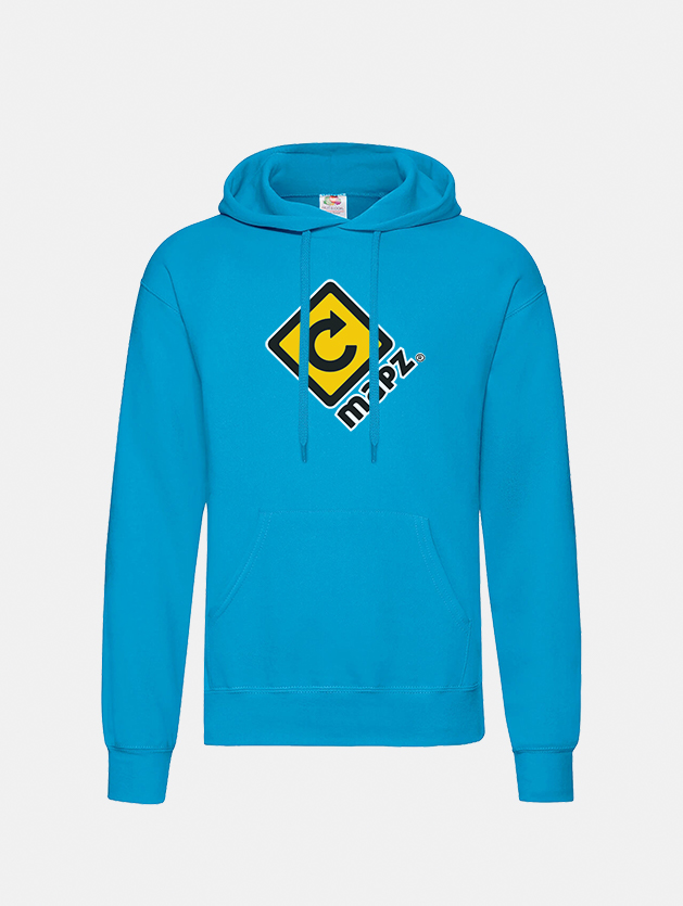 felpa con cappuccio hooded azure blu graphid promotion