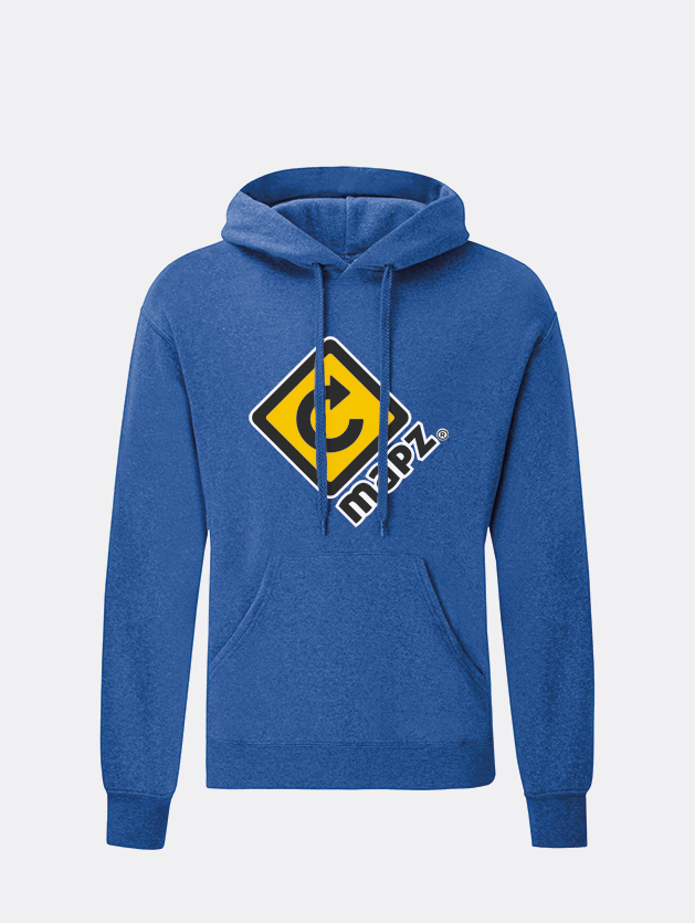 felpa con cappuccio hooded blu royal graphid promotion