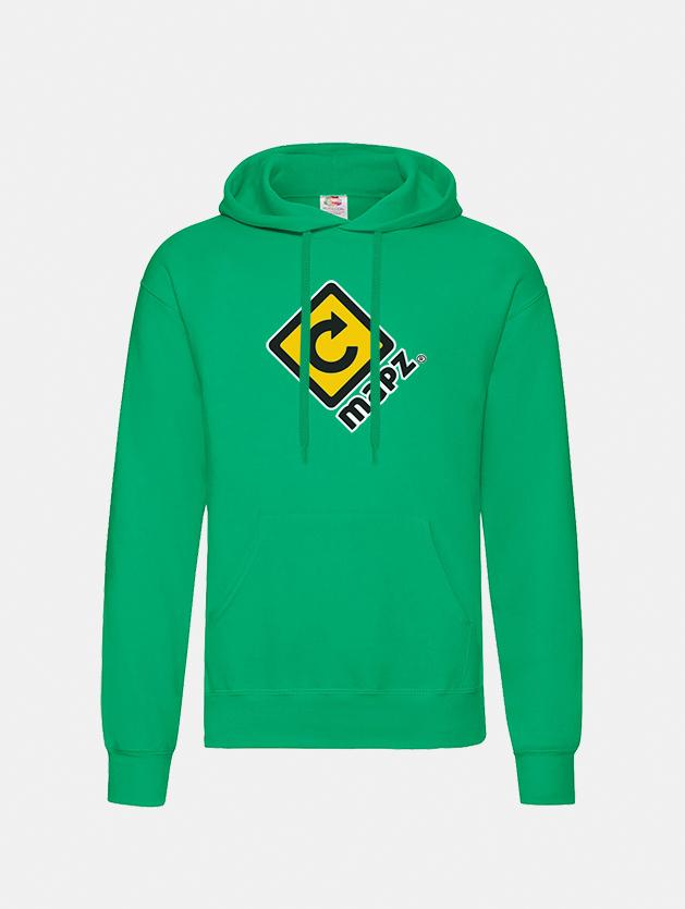felpa con cappuccio hooded kelly green graphid promotion