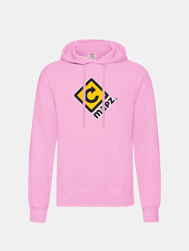 felpa con cappuccio hooded light pink graphid promotion