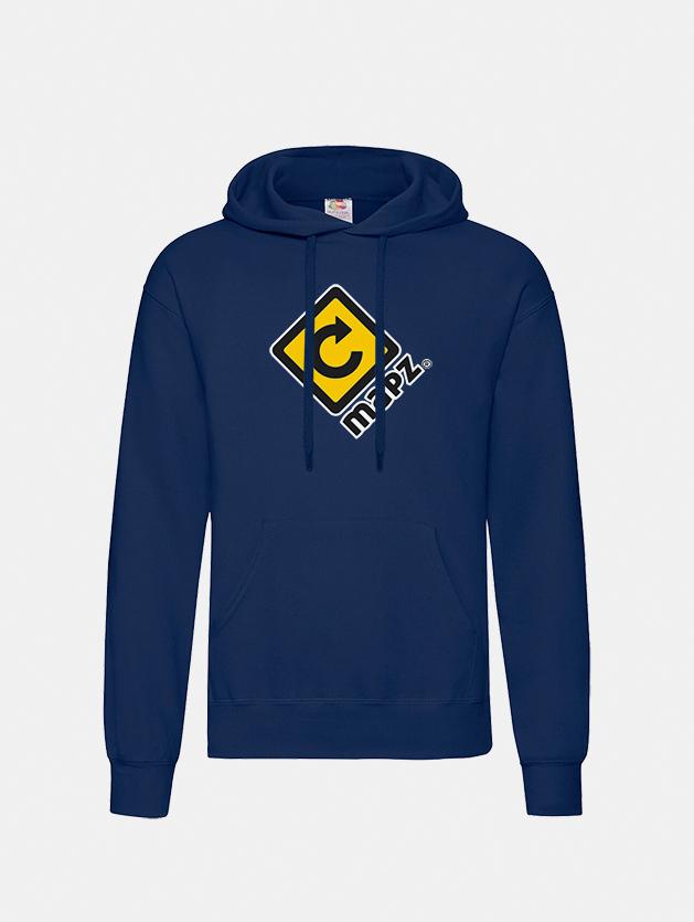 felpa con cappuccio hooded navy graphid promotion