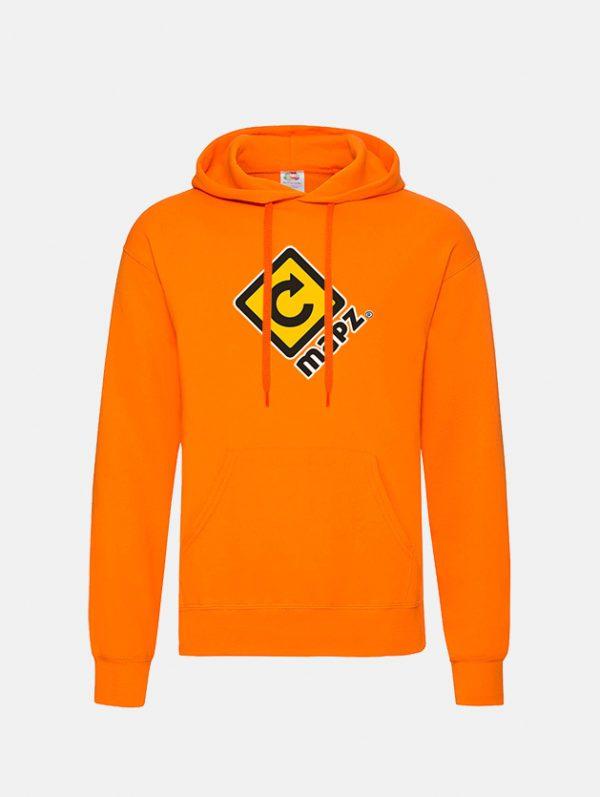 felpa con cappuccio hooded orange graphid promotion