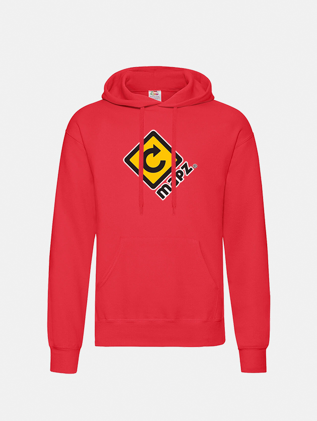 felpa con cappuccio hooded red graphid promotion