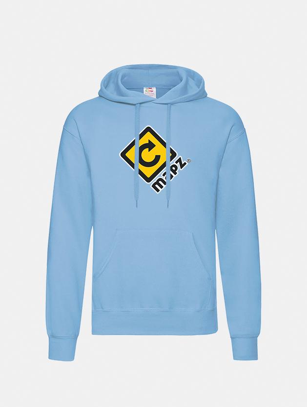 felpa con cappuccio hooded sky blu graphid promotion