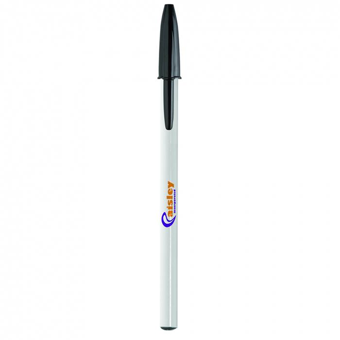 Penna Bic Style bianco nera