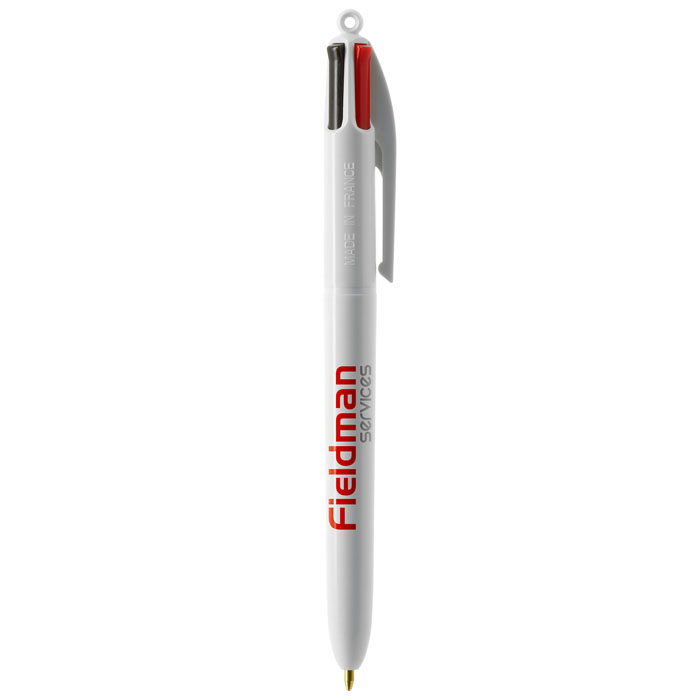 Penna bic 4colours total white