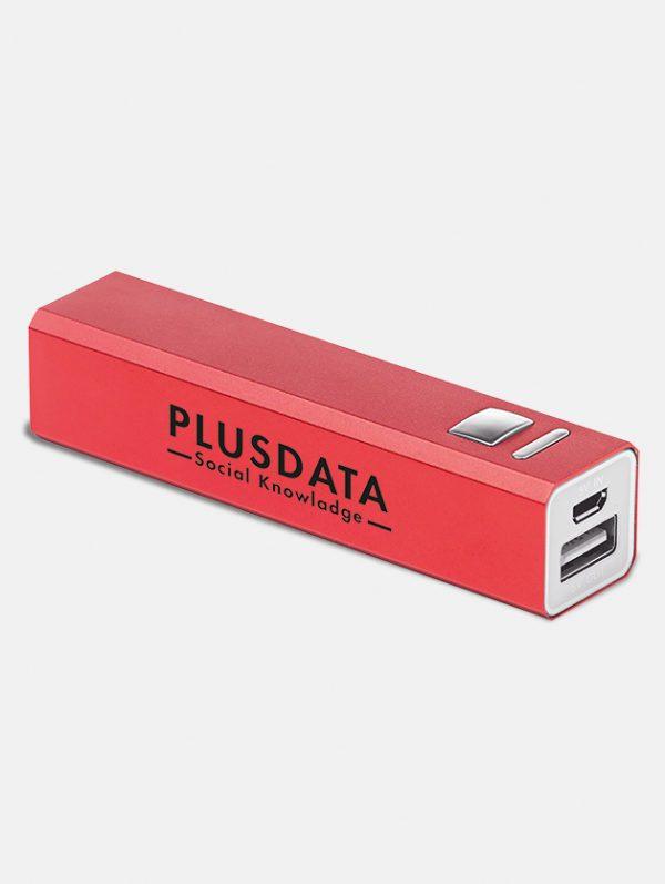 Power bank personalizzato rosso