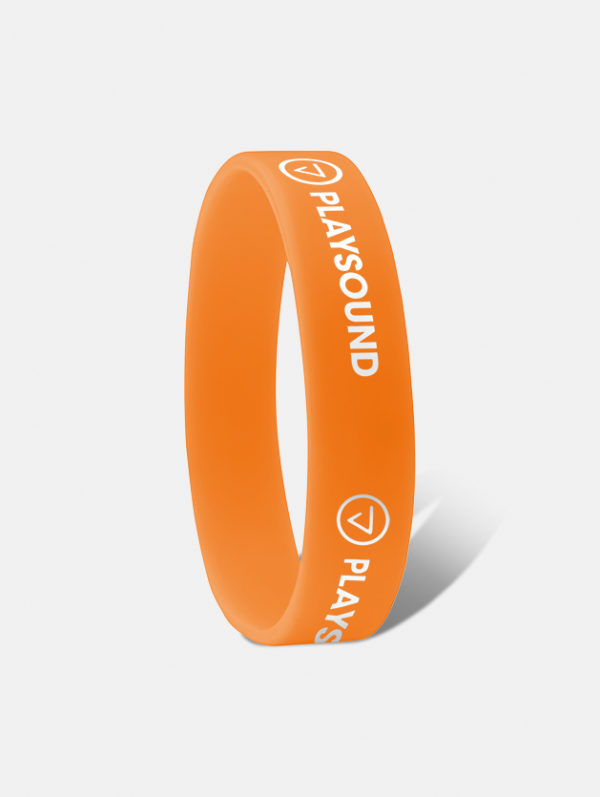 braccialetto silicone ad incisione arancione