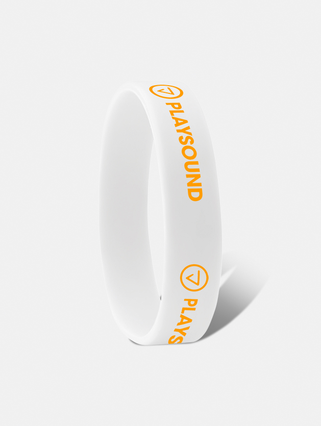 braccialetto silicone ad incisione bianco