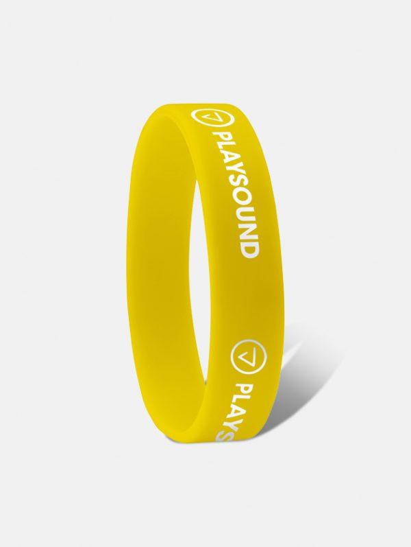 braccialetto silicone ad incisione giallo