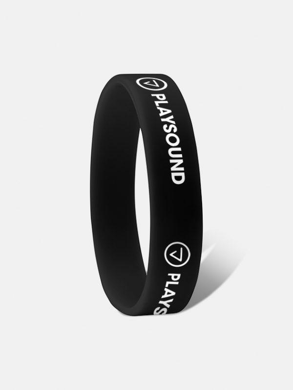 braccialetto silicone ad incisione nero