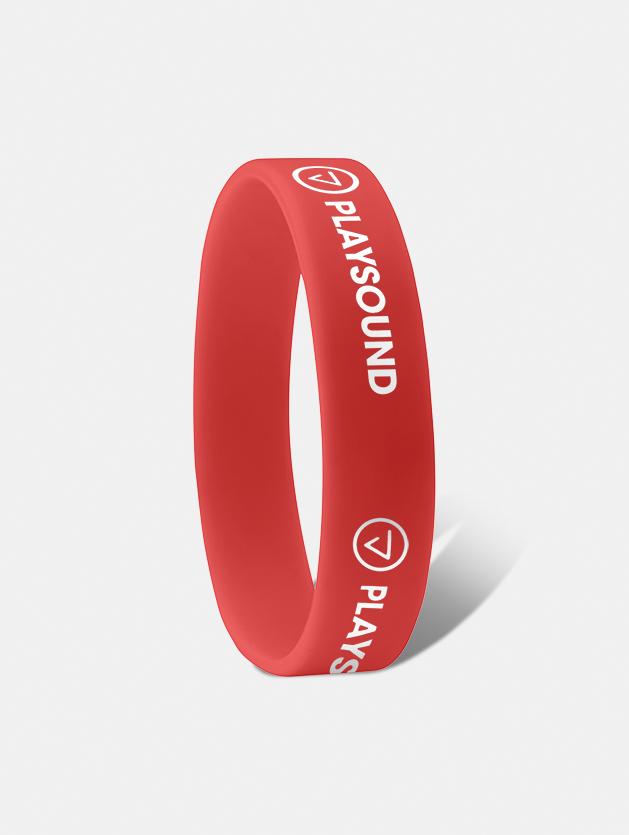 braccialetto silicone ad incisione rosso