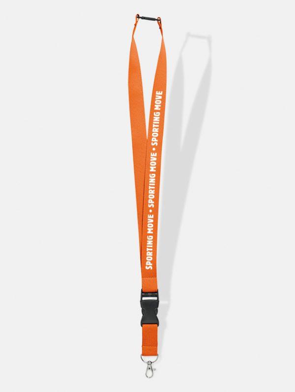 portabadge lanyard 25 personalizzati arancione