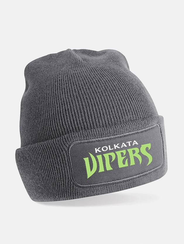 cappello beanie print grigio