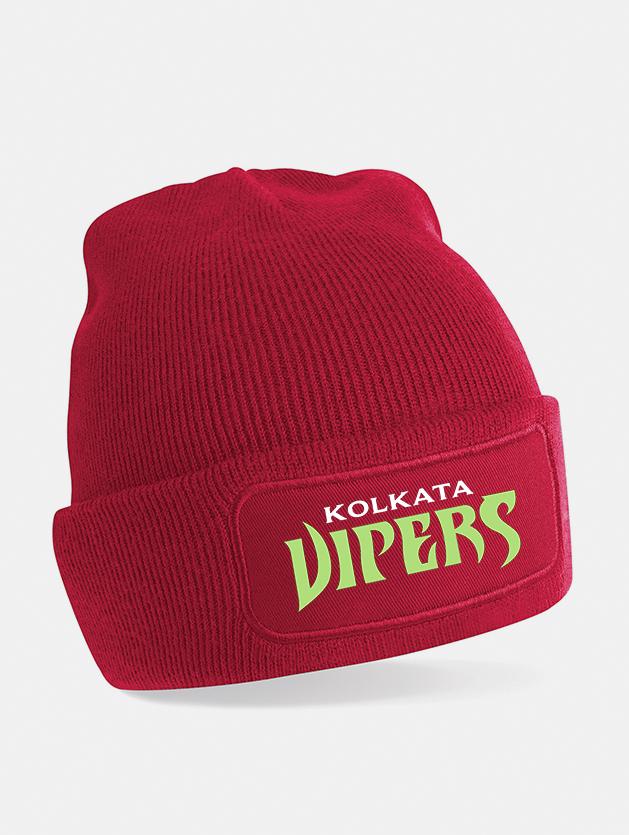 cappello beanie print rosso